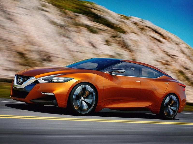 Nissan Sport Sedan concept 2014 вид сбоку фото 2