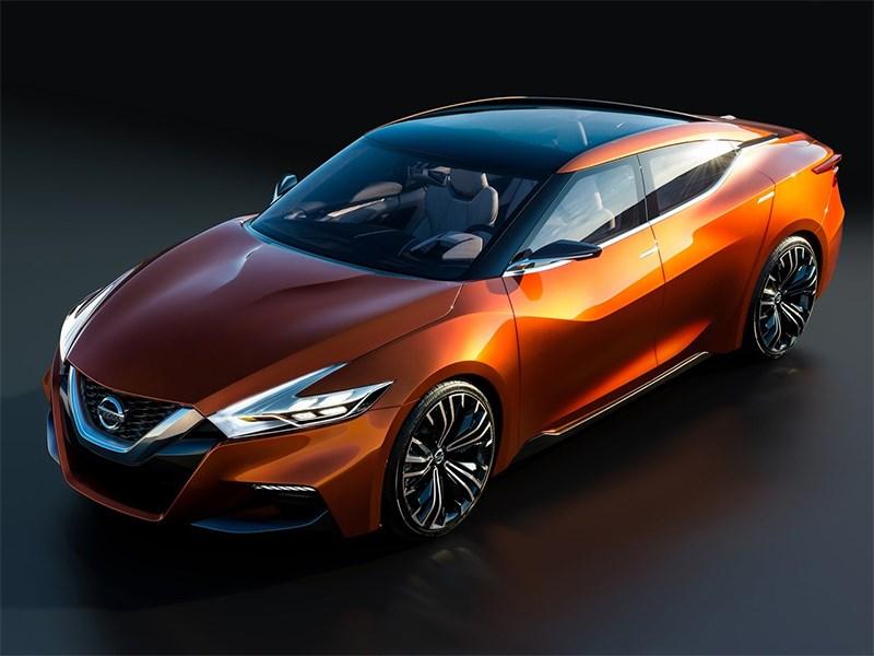 Nissan Sport Sedan concept 2014 вид спереди сверху