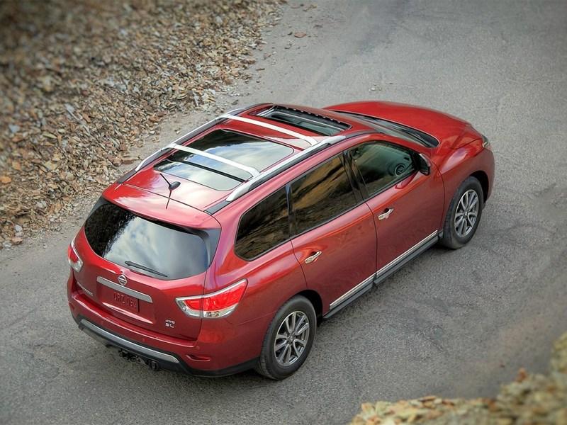 Nissan Pathfinder 2012 вид сверху