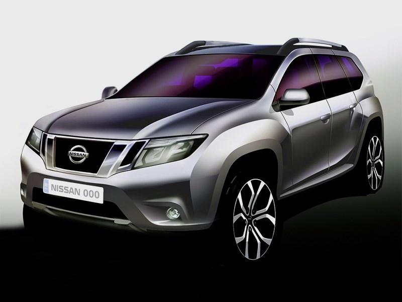Nissan Terrano 2014 вид спереди
