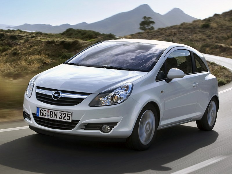 Оптический обман (Opel Corsa С, Ford Fiesta, VW Polo) Corsa поколение D рест.
