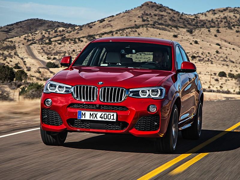 BMW X4 2014 вид спереди фото 2