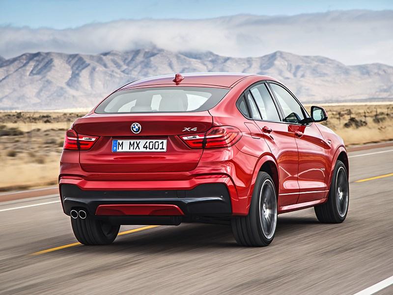 BMW X4 2014 вид сзади фото 1