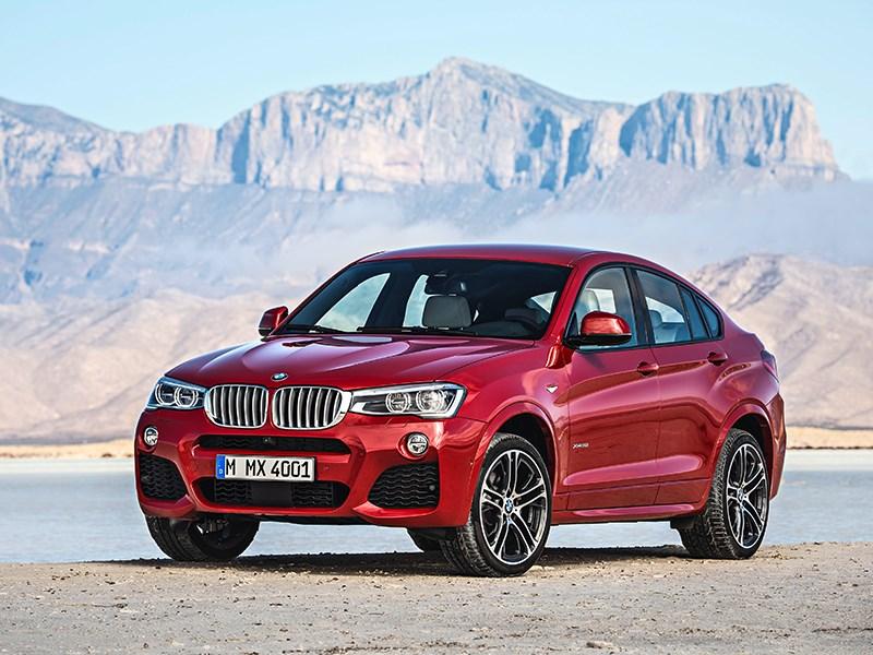 BMW X4 2014 вид сбоку фото 2