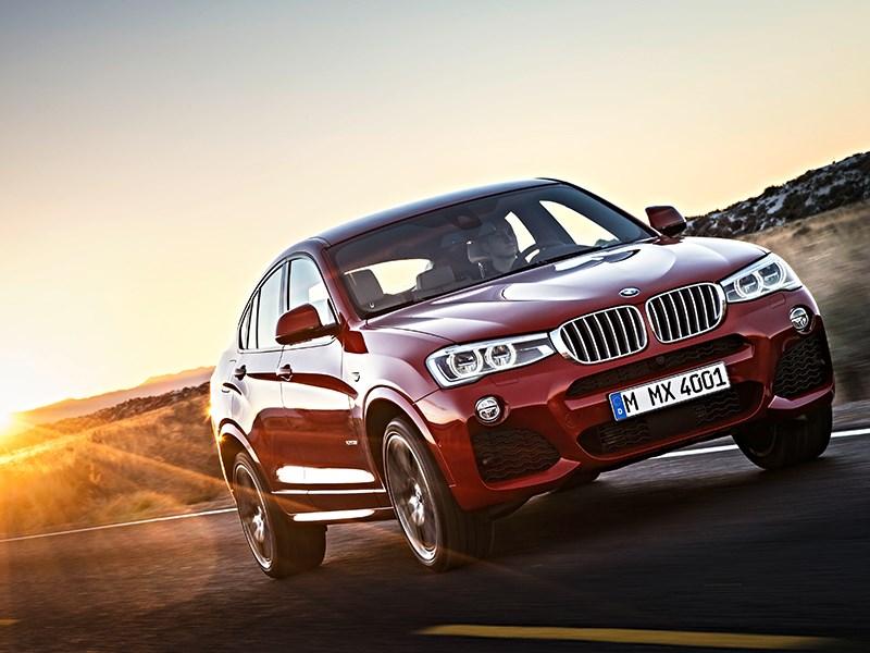 BMW X4 2014 вид спереди фото 3