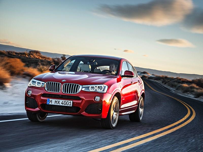 BMW X4 2014 вид спереди фото 5