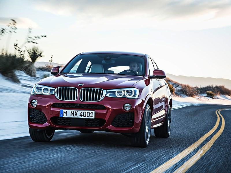 BMW X4 2014 вид спереди фото 6