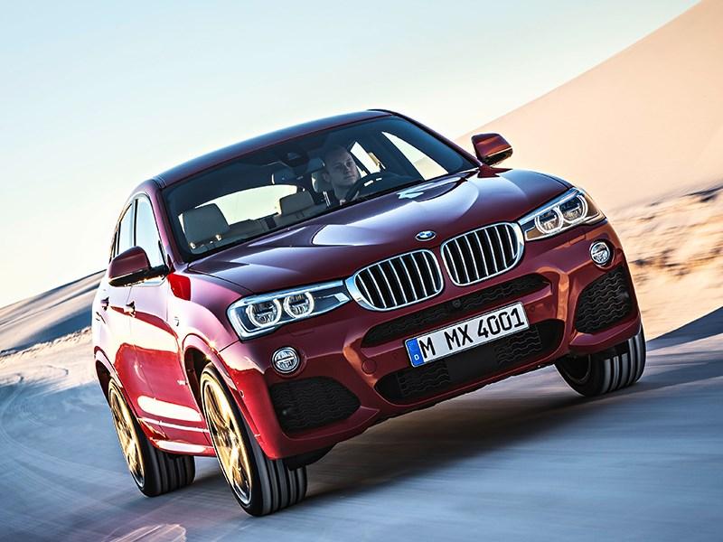 BMW X4 2014 вид спереди фото 8