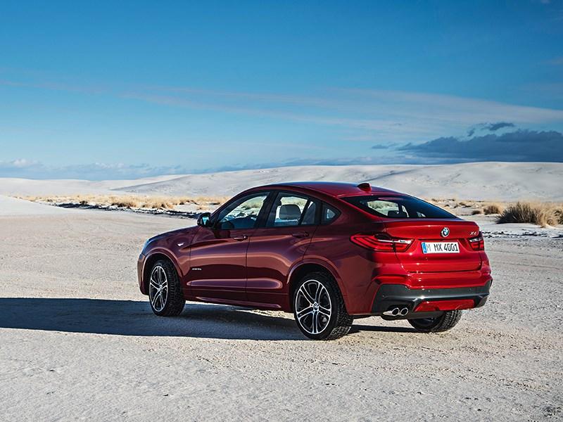 BMW X4 2014 вид сзади фото 4