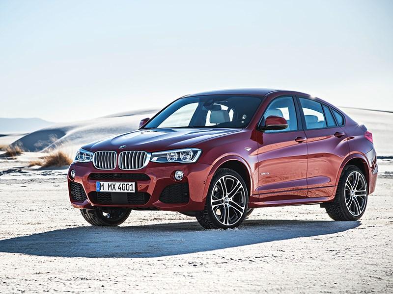 BMW X4 2014 вид сбоку фото 6