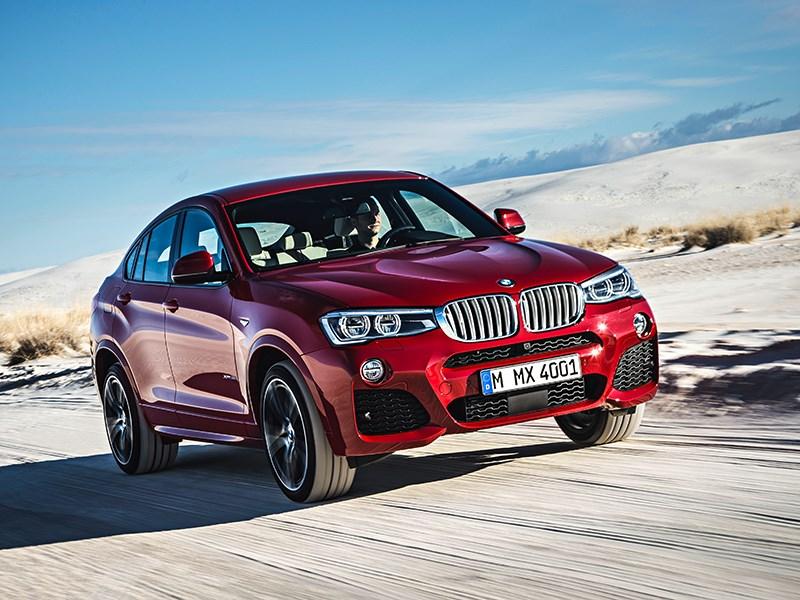 BMW X4 2014 вид спереди фото 13