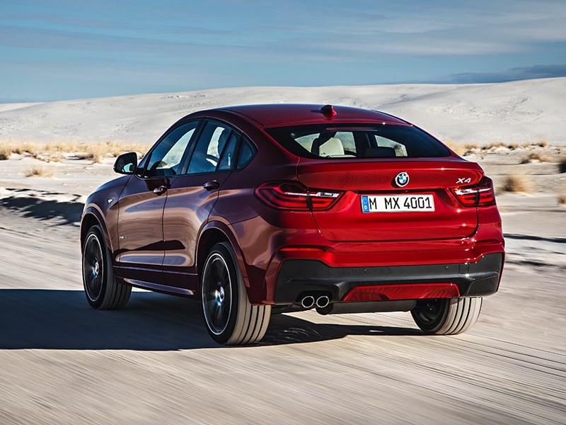 BMW X4 2014 вид сзади фото 5