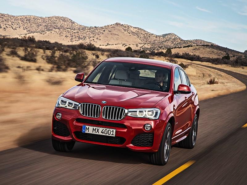BMW X4 2014 вид спереди фото 17