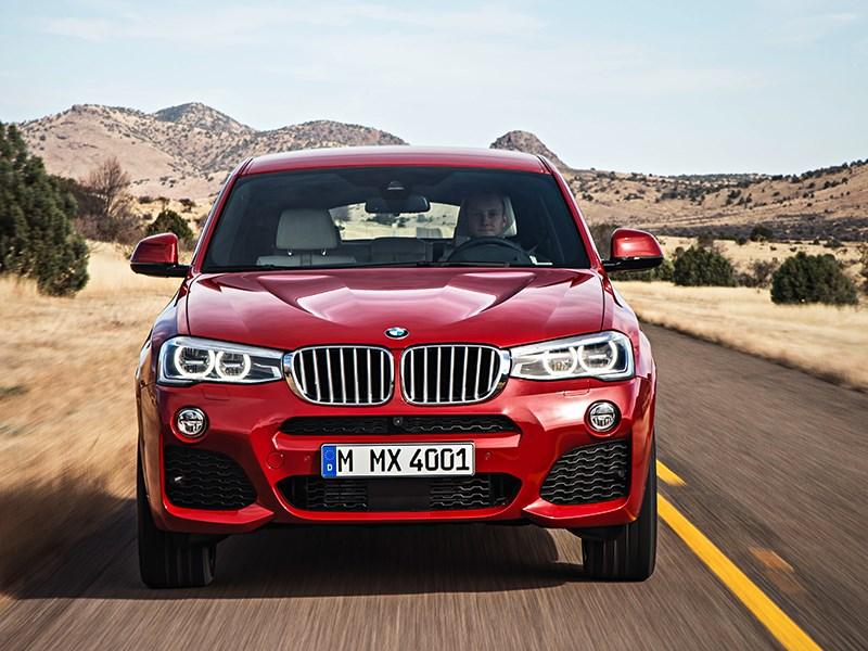 BMW X4 2014 вид спереди фото 18