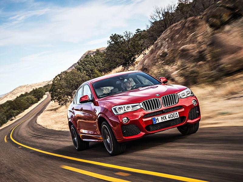 BMW X4 2014 вид спереди фото 19