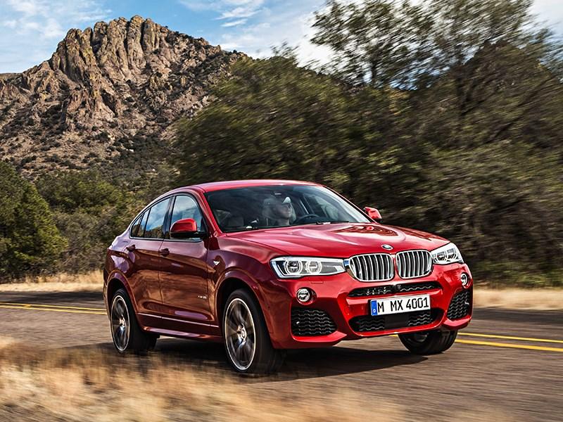 BMW X4 2014 вид спереди фото 20