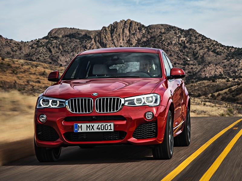 BMW X4 2014 вид спереди фото 22
