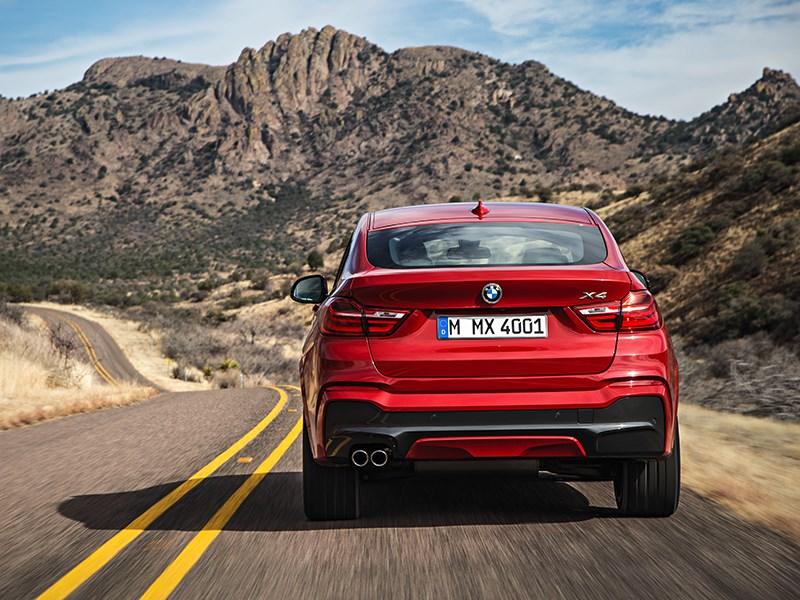BMW X4 2014 вид сзади фото 6