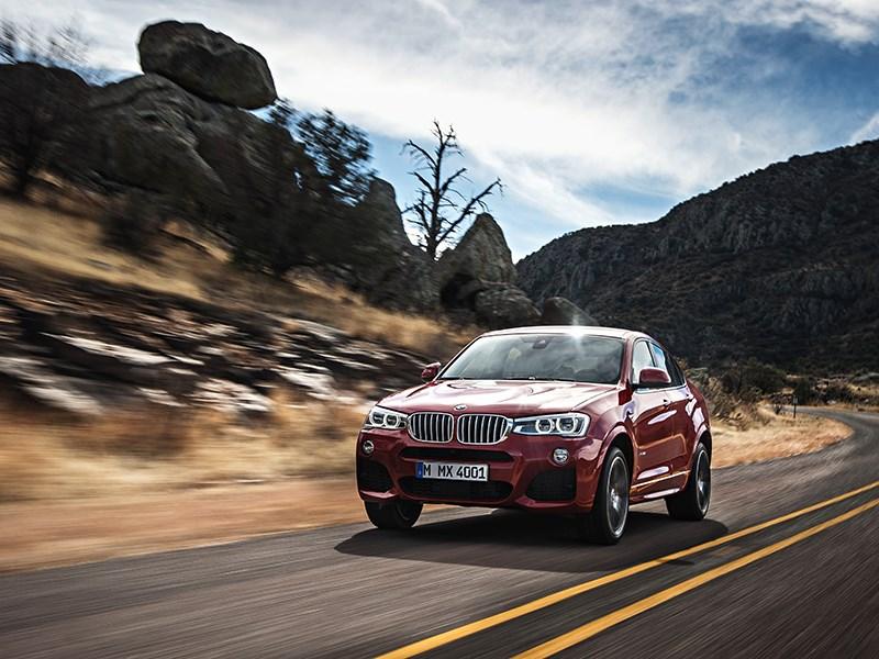 BMW X4 2014 вид спереди фото 23