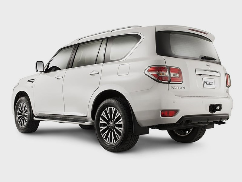 Nissan Patrol 2014 вид сзади