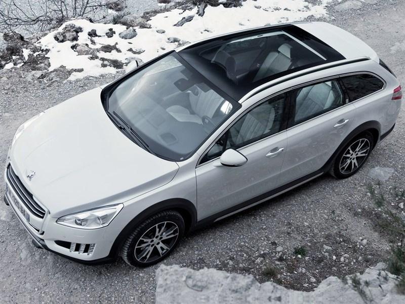 Peugeot 508 RXH 2012 вид сверху