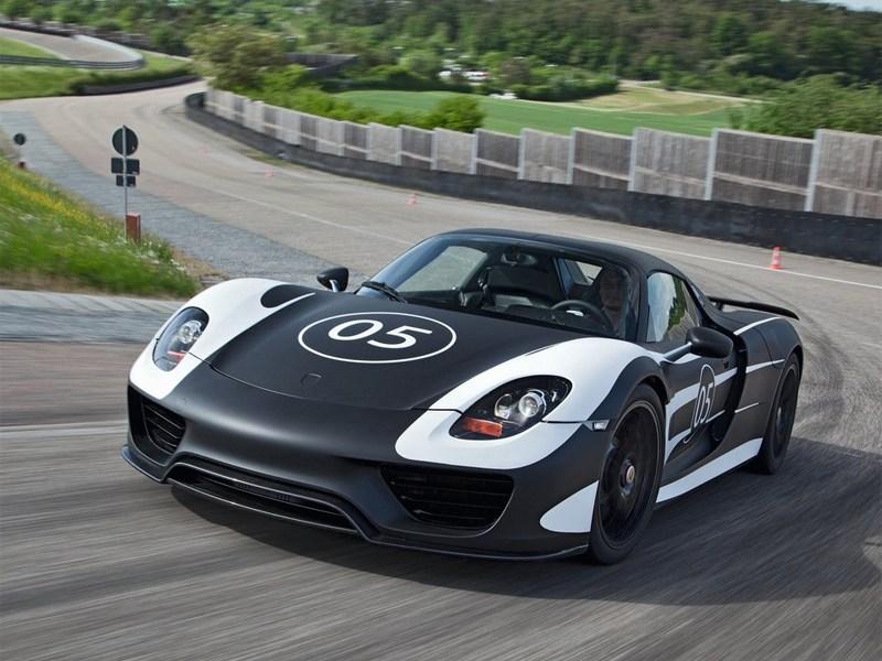 Porsche 918 spyder 2012 вид спереди