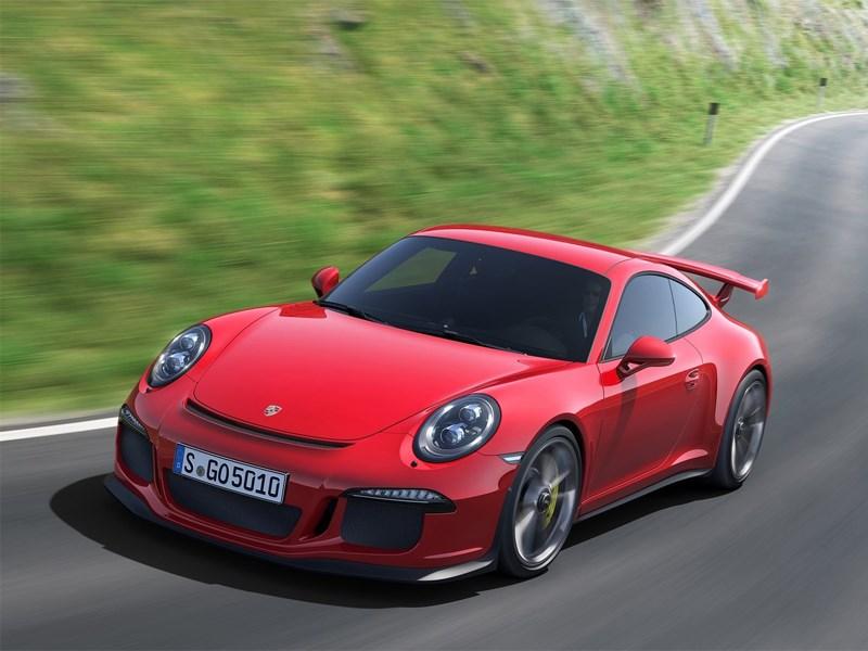 Новый Porsche 911 GT3 3.8 - Porsche 911 GT3 3.8 2013 вид спереди