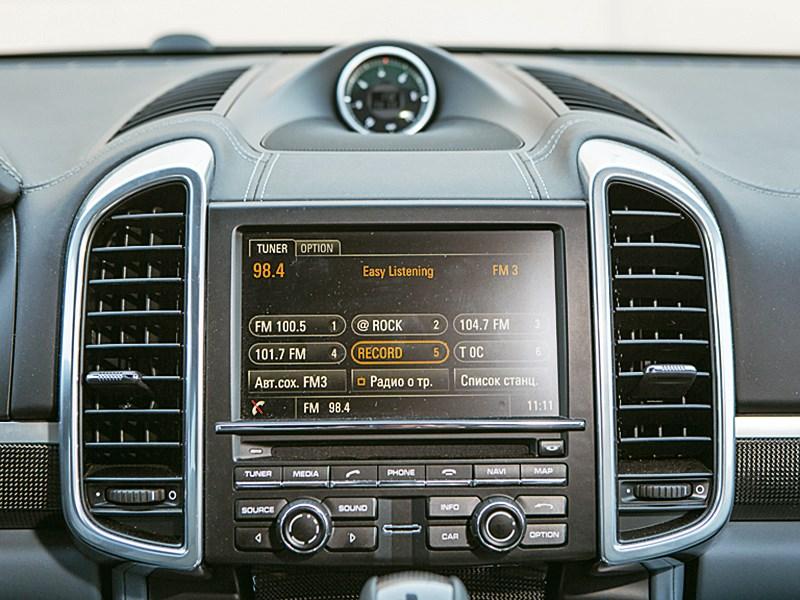 Porsche Cayenne Turbo S 2013 монитор компьютера