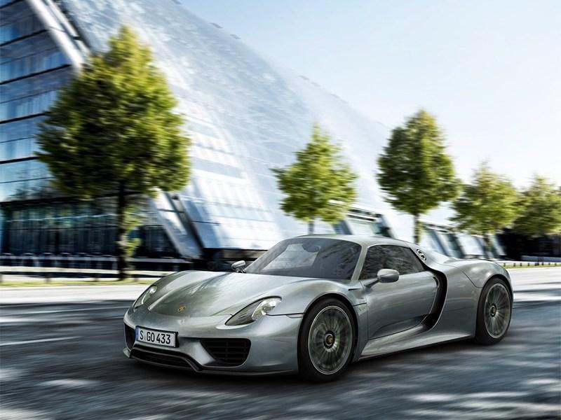 Новый Porsche 918 Spyder - Porsche 918 spyder 2012 вид спереди