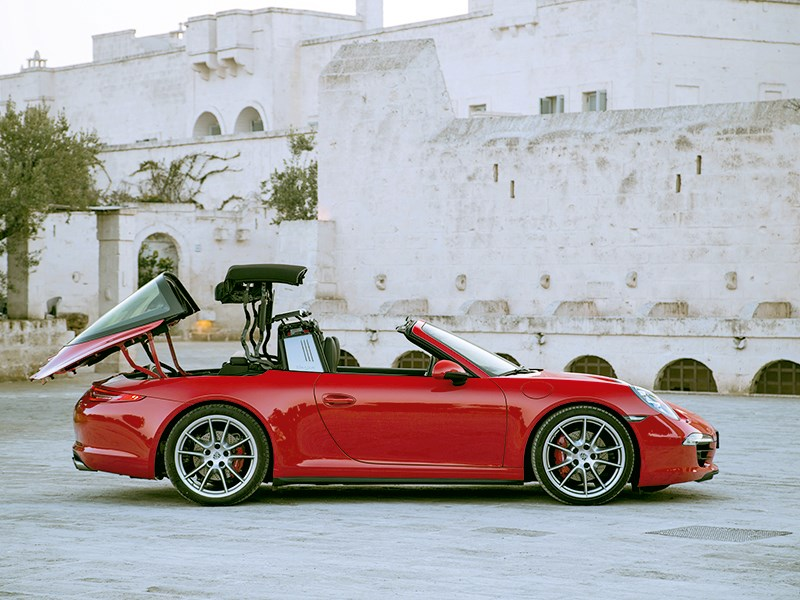 Porsche 911 Targa 2014 трансформация крыши