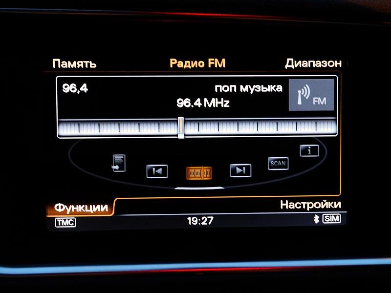 Audi Q5 2012 мультимедийный экран