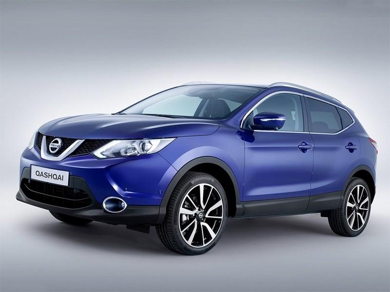 Nissan Qashqai 2013 вид сбоку синий