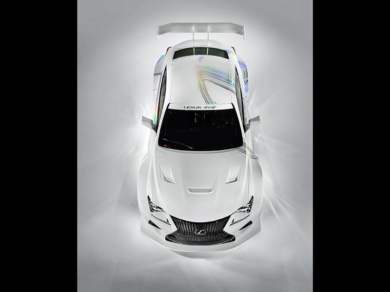 Lexus RC F GT3 2014 вид сверху фото 2