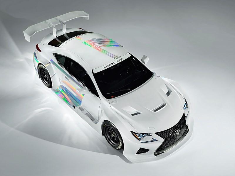 Lexus RC F GT3 2014 вид сверху фото 3