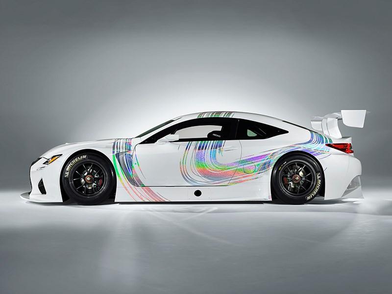 Lexus RC F GT3 2014 вид сбоку фото 1