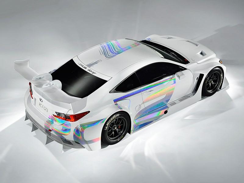 Lexus RC F GT3 2014 вид сверху фото 4