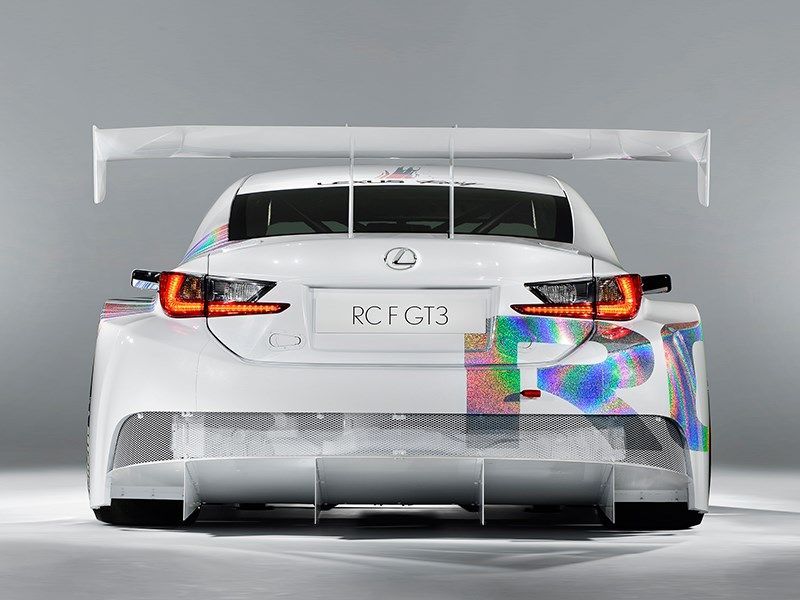 Lexus RC F GT3 2014 вид сзади фото 1