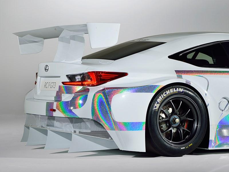 Lexus RC F GT3 2014 вид сзади фото 3