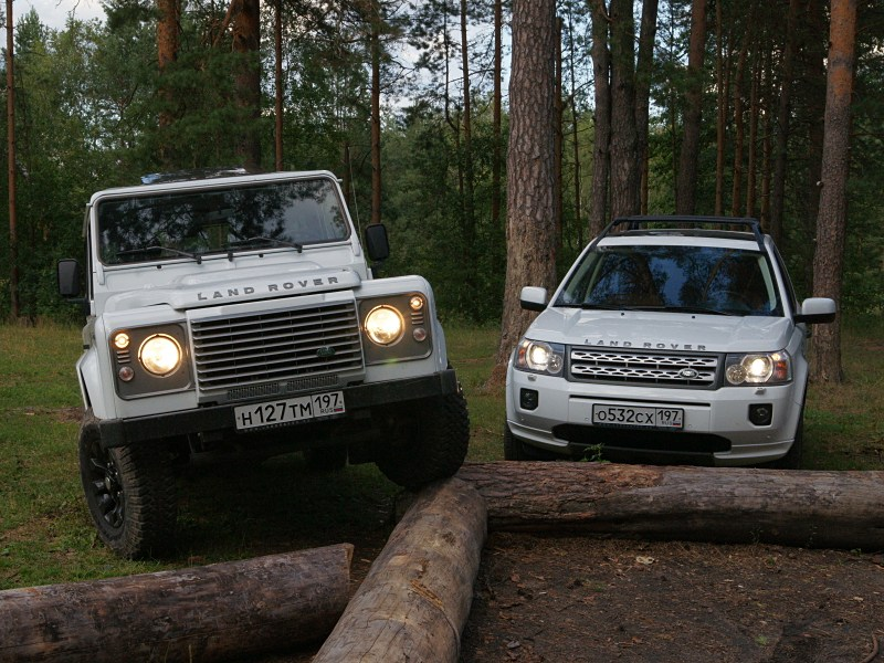 Land Rover Defender 90 - land rover defender и land rover freelander 2