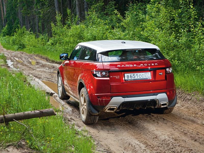 Range Rover Evoque 2012 вид сзади