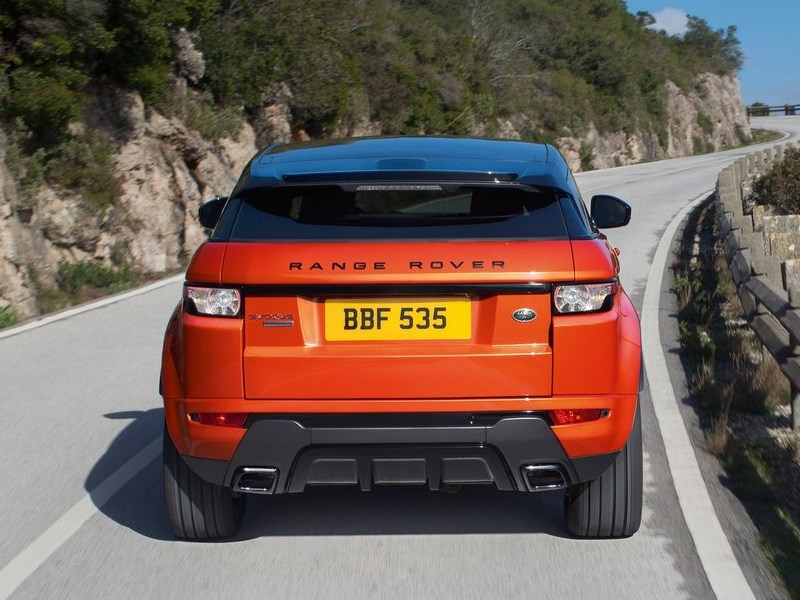 Land Rover Range Rover Evoque Autobiography Dynamic 2014 вид сзади