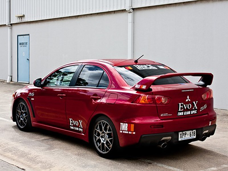 Lancer Evolution X Ralliart 2008 вид сзади