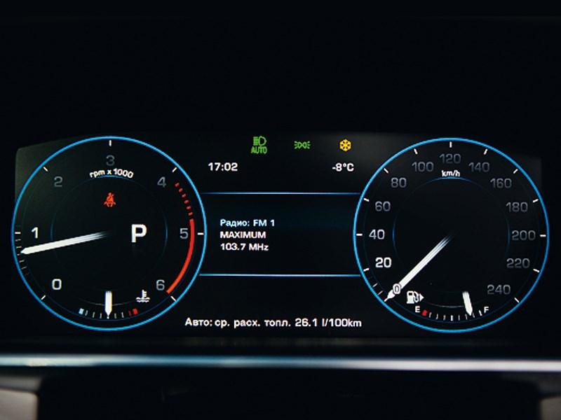 Range Rover 2012 приборная панель