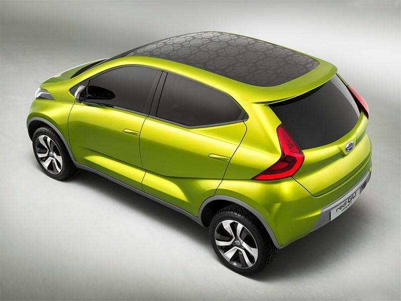 Datsun redi-Go Concept 2014 вид сбоку сверху