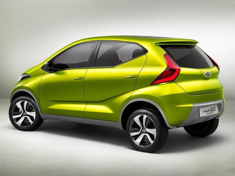 Datsun redi-Go Concept 2014 вид сбоку сзади