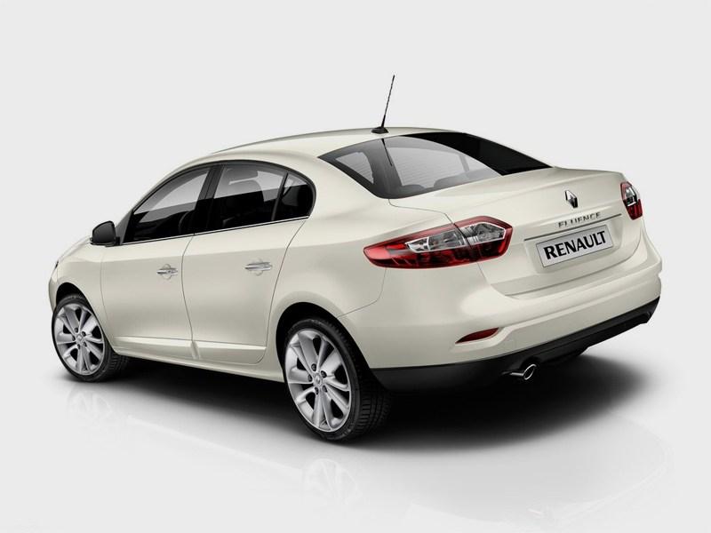 Renault Fluence 2013 вид сзади