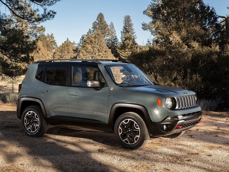 Jeep Renegade 2014 вид спереди сбоку