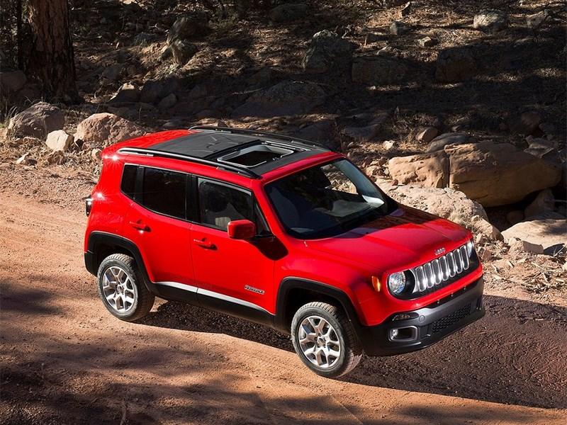 Jeep Renegade 2014 вид спереди сбоку фото 2