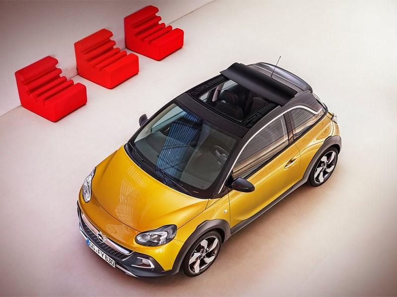 Opel Adam Rocks 2014 вид сверху