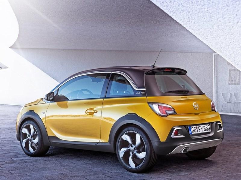 Opel Adam Rocks 2014 вид сбоку сзади фото 2